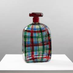 Ercole Barovier Barovier for Christian Dior Paris Tartan Murano Glass Bottle with Stopper - 1251935