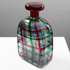 Ercole Barovier Barovier for Christian Dior Paris Tartan Murano Glass Bottle with Stopper - 1251936