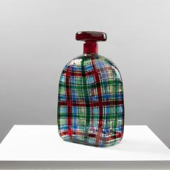 Ercole Barovier Barovier for Christian Dior Paris Tartan Murano Glass Bottle with Stopper - 1251937