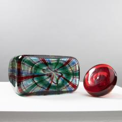 Ercole Barovier Barovier for Christian Dior Paris Tartan Murano Glass Bottle with Stopper - 1251939