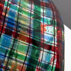 Ercole Barovier Barovier for Christian Dior Paris Tartan Murano Glass Bottle with Stopper - 1251940
