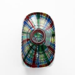 Ercole Barovier Barovier for Christian Dior Paris Tartan Murano Glass Bottle with Stopper - 1251941