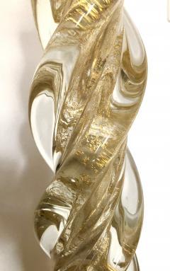 Ercole Barovier Ercole Barovier Pair Massive Murano Glass Table Lamps - 1939609