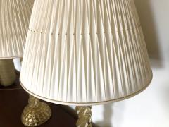 Ercole Barovier Ercole Barovier Pair Massive Murano Glass Table Lamps - 1939614