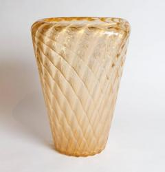Ercole Barovier Large Iridescent Italian Art Glass Murano Vase Attributed to Ercole Barovier - 295449