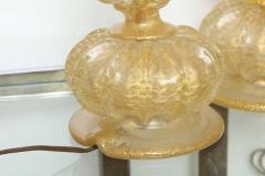 Ercole Barovier Pair of Barovier Descending Pumpkin Form Glass Table Lamps - 225345
