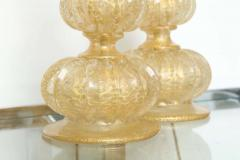 Ercole Barovier Pair of Barovier Descending Pumpkin Form Glass Table Lamps - 225346
