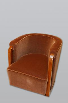 Eric Bagge Eric Bagge for Mercier Freres Modernist Club Chair in French Walnut - 366662