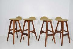 Erik Buch Four Bar Stools Model OD61 Designed by Erik Buch and Manufactured by Odense - 1105578