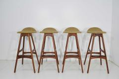 Erik Buch Four Bar Stools Model OD61 Designed by Erik Buch and Manufactured by Odense - 1105579