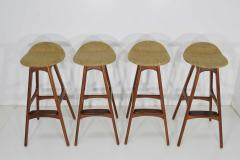 Erik Buch Four Bar Stools Model OD61 Designed by Erik Buch and Manufactured by Odense - 1105580