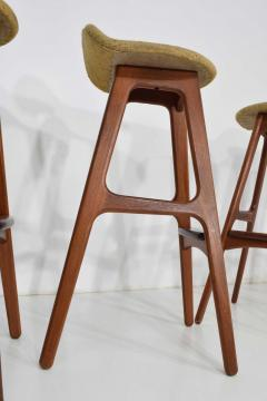 Erik Buch Four Bar Stools Model OD61 Designed by Erik Buch and Manufactured by Odense - 1105585