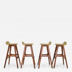 Erik Buch Four Bar Stools Model OD61 Designed by Erik Buch and Manufactured by Odense - 1106867
