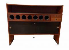 Erik Buch Mid Century Modern Teak Wood Bar Cabinet by Erik Buch for Dyrlund Denmark 1960s - 1488171