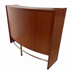 Erik Buch Mid Century Modern Teak Wood Bar Cabinet by Erik Buch for Dyrlund Denmark 1960s - 1488174