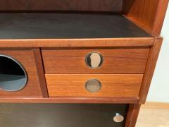 Erik Buch Mid Century Modern Teak Wood Bar Cabinet by Erik Buch for Dyrlund Denmark 1960s - 1488177