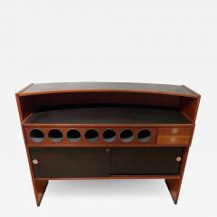 Erik Buch Mid Century Modern Teak Wood Bar Cabinet by Erik Buch for Dyrlund Denmark 1960s - 1533630