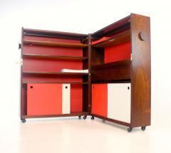 Erik Buck Unique Scandinavian Modern Rosewood Bar Cabinet on Wheels by Erik Buck - 1653090