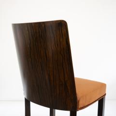 Erik Chambert ERIK CHAMBERT SET OF 6 SWEDISH ART DECO Marquetry SIDE CHAIRS - 793871