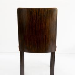 Erik Chambert ERIK CHAMBERT SET OF 6 SWEDISH ART DECO Marquetry SIDE CHAIRS - 793873
