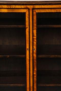 Erik Chambert Erik Chambert Birch Ebonized and Fruitwood Inlaid Bookcase Cabinet circa 1940 - 752029