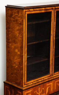 Erik Chambert Erik Chambert Birch Ebonized and Fruitwood Inlaid Bookcase Cabinet circa 1940 - 752030