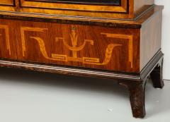 Erik Chambert Erik Chambert Birch Ebonized and Fruitwood Inlaid Bookcase Cabinet circa 1940 - 752034