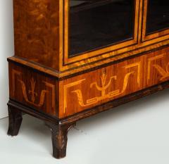 Erik Chambert Erik Chambert Birch Ebonized and Fruitwood Inlaid Bookcase Cabinet circa 1940 - 752035