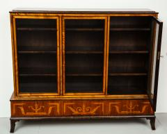Erik Chambert Erik Chambert Birch Ebonized and Fruitwood Inlaid Bookcase Cabinet circa 1940 - 752036