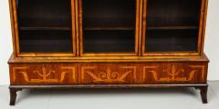 Erik Chambert Erik Chambert Birch Ebonized and Fruitwood Inlaid Bookcase Cabinet circa 1940 - 752037