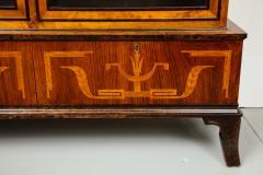 Erik Chambert Erik Chambert Birch Ebonized and Fruitwood Inlaid Bookcase Cabinet circa 1940 - 752038