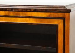 Erik Chambert Erik Chambert Birch Ebonized and Fruitwood Inlaid Bookcase Cabinet circa 1940 - 752039