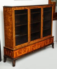 Erik Chambert Erik Chambert Birch Ebonized and Fruitwood Inlaid Bookcase Cabinet circa 1940 - 752040