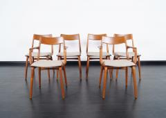 Erik Christensen Danish Teak Boomerang Dining Chairs By Erik Christensen    214994