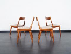 Erik Christensen Danish Teak Boomerang Dining Chairs By Erik Christensen    214996