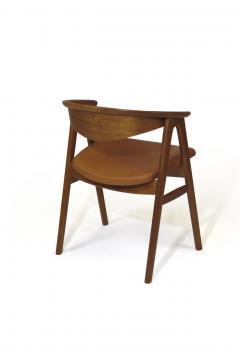 Erik Kirkegaard Erik Krikegaard Danish Teak Dining Chairs in Saddle Leather - 1308143