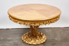 Erika Brunson Tree Trunk Table with Gold Leaf by Erika Brunson