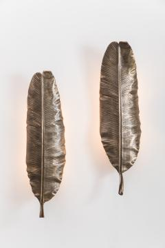 Erin Sullivan Flora Series Bronze Banana Leaf Sconces USA - 1164353