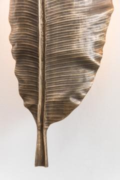 Erin Sullivan Flora Series Bronze Banana Leaf Sconces USA - 1164356