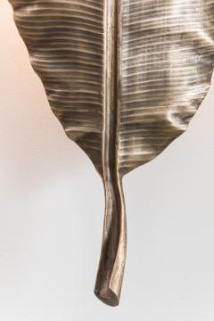 Erin Sullivan Flora Series Bronze Banana Leaf Sconces USA - 1164357