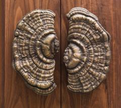 Erin Sullivan Flora Series Bronze Mushroom Door Pulls USA - 1164363