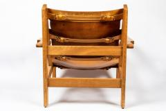 Erling Jessen 1960s Erling Jessen Oak and Leather Lounge Chair - 1146432