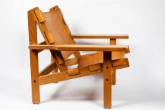 Erling Jessen 1960s Erling Jessen Oak and Leather Lounge Chair - 1146434