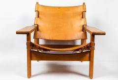 Erling Jessen 1960s Erling Jessen Oak and Leather Lounge Chair - 1146436