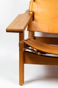 Erling Jessen 1960s Erling Jessen Oak and Leather Lounge Chair - 1146437