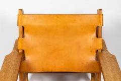 Erling Jessen 1960s Erling Jessen Oak and Leather Lounge Chair - 1146438