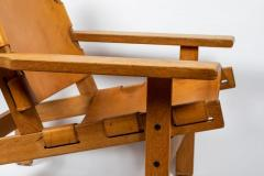 Erling Jessen 1960s Erling Jessen Oak and Leather Lounge Chair - 1146439