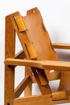 Erling Jessen 1960s Erling Jessen Oak and Leather Lounge Chair - 1146442