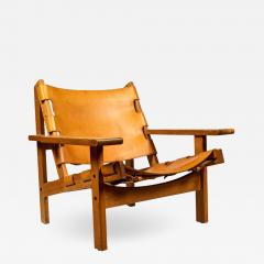 Erling Jessen 1960s Erling Jessen Oak and Leather Lounge Chair - 1146581