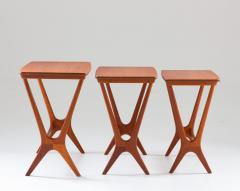 Erling Torvits Scandinavian Midcentury Nesting Tables by Erling Torvits for HM - 1690182